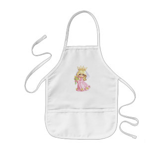 Avental Infantil Princesa cor-de-rosa