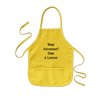 Avental Infantil Queira a data da aventura um advogado