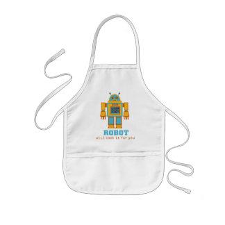 Avental Infantil Robô retro