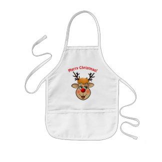 Avental Infantil Rudolph - a rena a mais famosa de tudo