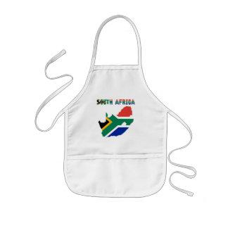 Avental Infantil Sul - bandeira africana