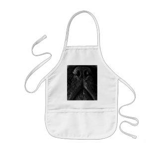 Avental Infantil Um buldogue francês preto e branco