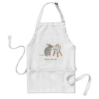Avental Inspiração para artistas loving do rato