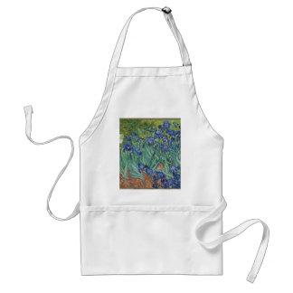 Avental Íris de Vincent van Gogh que pintam o trabalho de