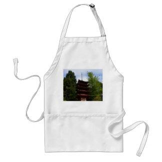 Avental japonês do pagode do jardim de chá de San