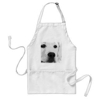 Avental Labrador retriever preto e branco