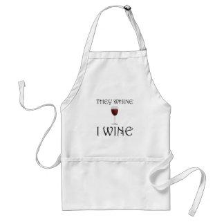 Avental Lamentam-se vinho de I