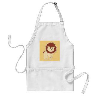 Avental Leão feliz do bebê dos desenhos animados