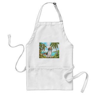 Avental Lebreiro na praia tropical das férias