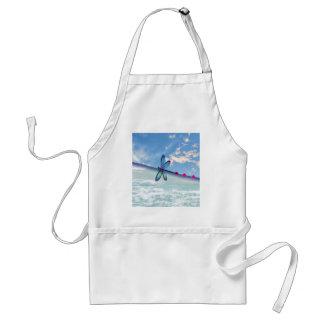 Avental libélula-mar-céu