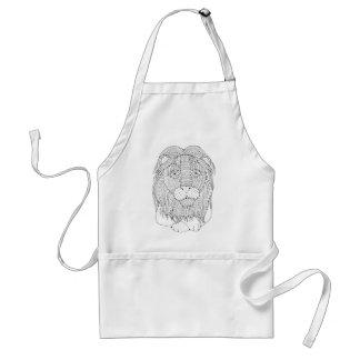 Avental Linha design do leão da arte