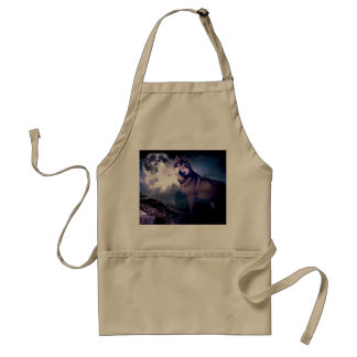 Avental Lobo da lua - lobo cinzento - lobo selvagem - lobo