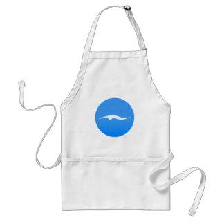Avental logotipo de swim_in_Blue2Swimming no t-shirt