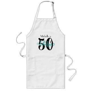 Avental Longo 50 & aniversário fabuloso da tipografia do preto &