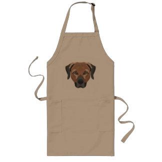 Avental Longo Cão Brown Labrador da ilustração