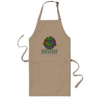 Avental Longo Dia da Terra: Mantenha o verde & o reciclado da