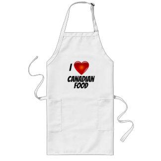 Avental Longo Eu amo a comida do canadense do coração