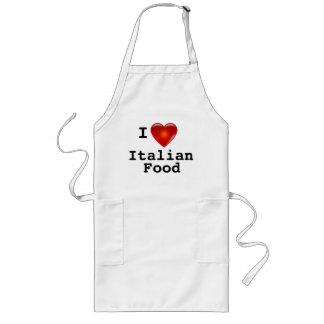 Avental Longo Eu amo a comida do italiano do coração