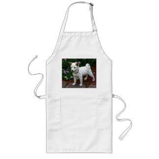 Avental Longo filhote de cachorro do shiba-inu-creme