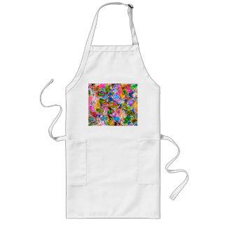 Avental Longo Flores misturadas de paisley do abstrato colorido