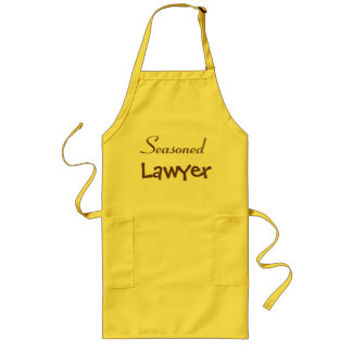 Avental Longo Ideia temperado do presente do advogado - nome