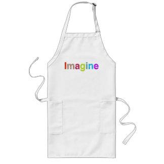 Avental Longo Imagine o presente colorido da inspiração do