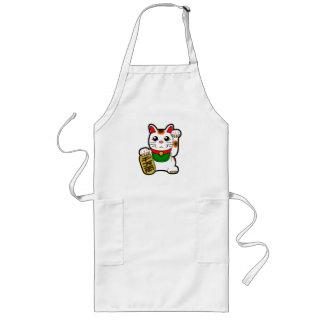 Avental Longo Maneki Neko: Gato afortunado japonês