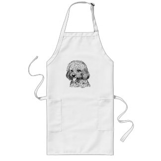 Avental Longo Mão legal cozinheiro chefe do cão/avental longos