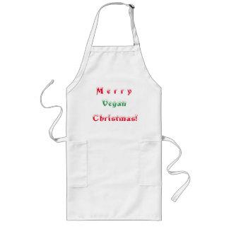 Avental Longo Natal alegre do Vegan