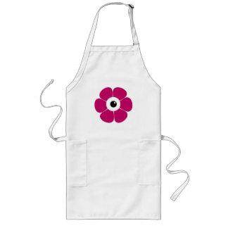 Avental Longo o olho da flor cor-de-rosa