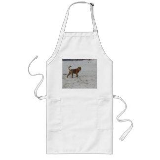 Avental Longo pei shar na praia