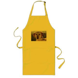 Avental Longo PIC amarelo de w do amor de Labrador