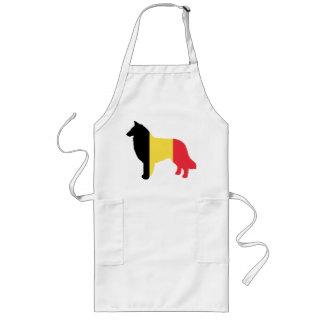 Avental Longo silhueta teruvian belga da bandeira