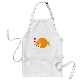 Avental lunático doce bonito do peixe dourado do