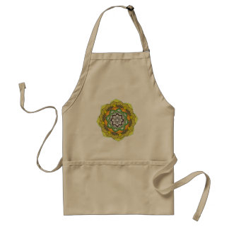 Avental Mandala da flor em cores de turquesa
