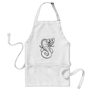 Avental Mascote da víbora do cobra da cobra