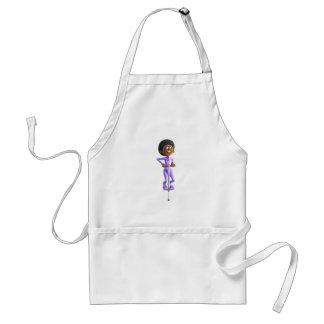 Avental Menina do afro-americano dos desenhos animados que
