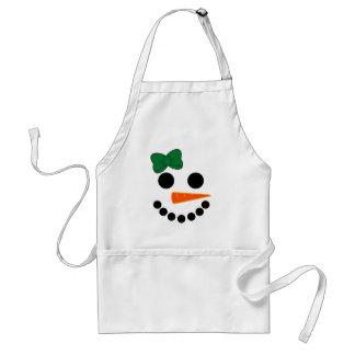 Avental Menina do boneco de neve