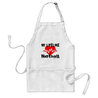 Avental Minha linha de vida Netball ostenta o design