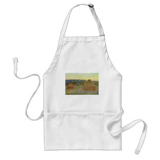Avental Monet - pintura clássica de Wheatstacks