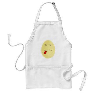 Avental Morto amarelo da cara do ovo do smiley para dentro