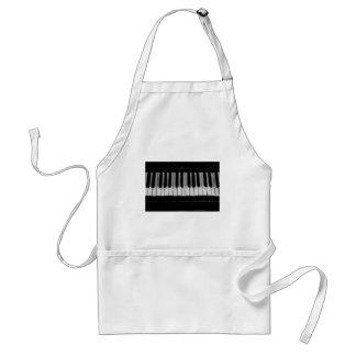 Avental Música velha do instrumento do teclado de piano de