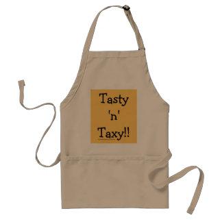 """Avental """"N saboroso"""" Taxy! O imposto exprime o slogan"""