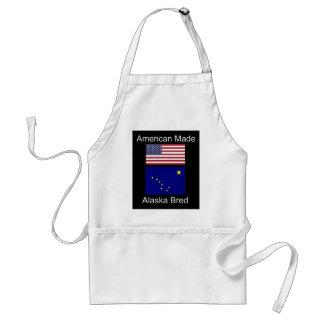 """Avental """"Nascer americano. Alaska produziu"""" bandeiras e"""
