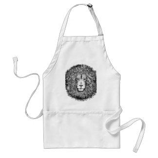 Avental Ninho do leão preto e branco