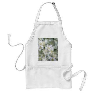 Avental Nuvem das flores brancas