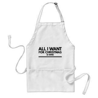 Avental O avental, tudo que eu quero para Chrostmas é