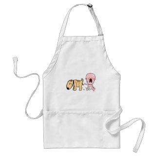Avental O cão mija no t-shirt Bebê-Engraçado