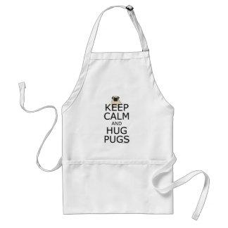 Avental O humor do Pug mantem Pugs calmos do abraço