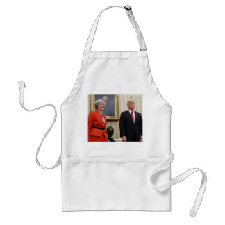 Avental O presidente Donald Trump & PM britânico Theresa